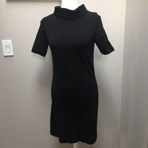 Vintage Nordstrom Best Dress Black Mini Wool